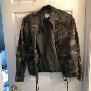 Camo jacket with roses